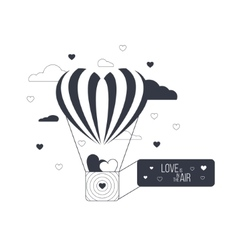 Love is in the air concept Heart shaped balloon vector image