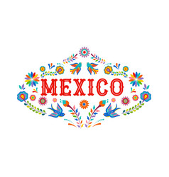 Mexico background banner with colorful mexican vector
