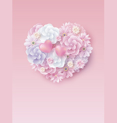 mothers day and valentines wedding design vector image