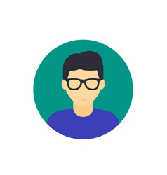 Nerd guy avatar icon vector