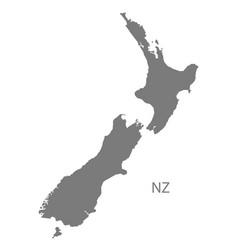 New zealand map grey vector
