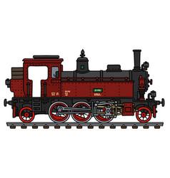 Old red tank engine steam locomotive vector