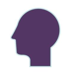 purple silhouette profile head human vector image