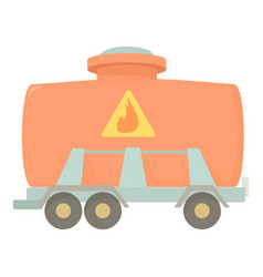 Railroad tank icon cartoon style vector