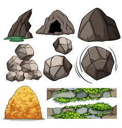 Rocks and cave vector