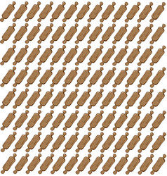 rolling pins wallpaper on white background vector image