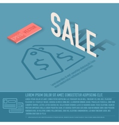 sale card business background concept desig vector image