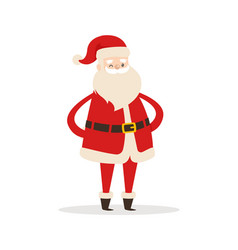 santa claus cartoon xmas character icon vector image vector image