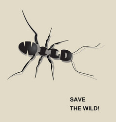 save the wild4 vector image