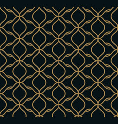 Seamless pattern of intersecting thin gold lines vector