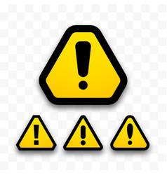 set hazard warning attention signs danger vector image