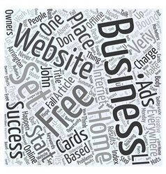 Set Your Home Based Business FREE Word Cloud vector image