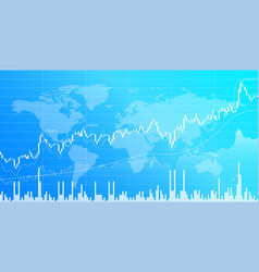 stock market and exchange candlestick chart vector image