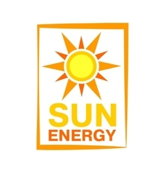 Sun energy icon vector image