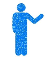 Talking Man Grainy Texture Icon vector