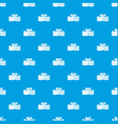Tasty turkish delight pattern seamless blue vector
