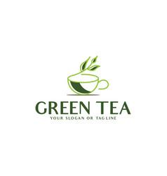 Tea leaf logo template vector