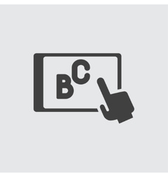 teaching icon vector image