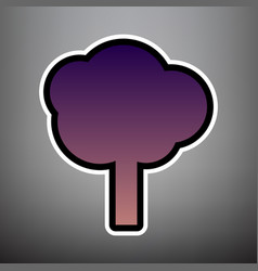 tree sign violet gradient vector image