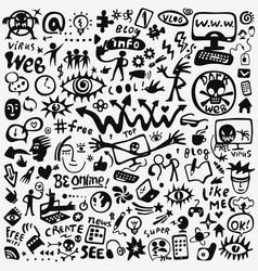 Web doodle set vector