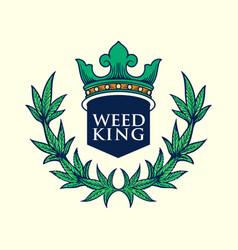 weed king logo vector image