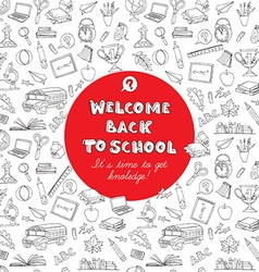 Back to school greeting card of kids doodles with vector image vector image