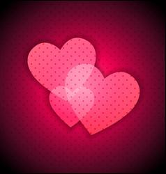 Dark Valentines background vector image vector image
