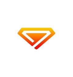 diamond company logo vector image