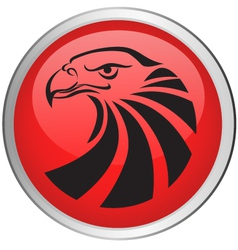 eagle head button vector image vector image