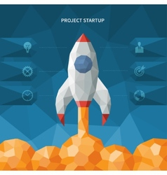 Modern polygon style startup concept vector image