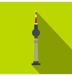TV tower Berlin icon flat style vector image