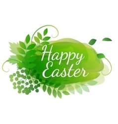 watercolor easter decoration vector image