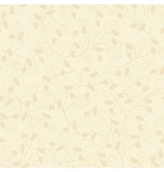 beige background with silhouette of plant vector image