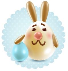 Easter bunny congratuletions postcard vector image vector image