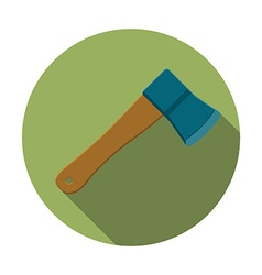 Flat design modern of axe icon camping and hiking vector image vector image