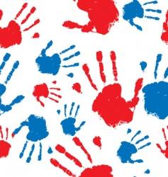 hand prints pattern vector image