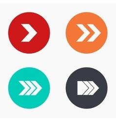 modern arrow colorful icons set vector image