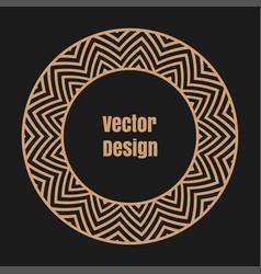 monogram line vintage frame vector image