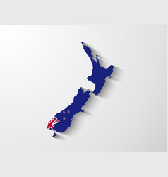 New Zealand map with shadow effect vector image