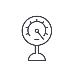 pressure meter line icon sign vector image