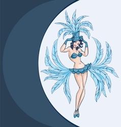 smiling cabaret ot burlesque dancer posing vector image vector image