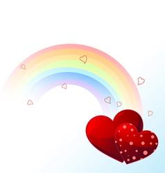 Valentines day rainbow vector image vector image
