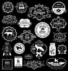 20 Vintage hand drawn Logos vector image