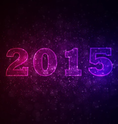 Abstract space background with 2015 vector image