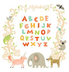 complete children alphabet vector image