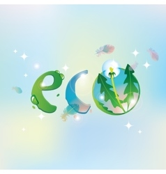 eco the sky and dandelion vector image vector image