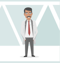 medical staff doctor in a white lab coat vector image vector image