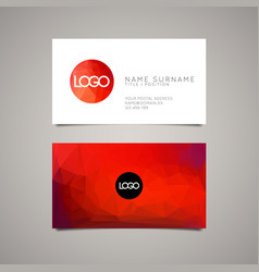 Modern simple business card template for ux vector image modern simple business card template vector image colourmoves