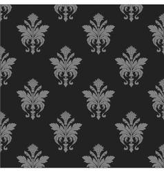 damask wallpaper seamless pattern vector image vector image