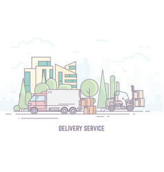 delivery service vector image